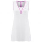 Poivre Blanc Womens Tennis Dress in White and Sukura Pink
