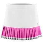 Poivre Blanc Womens Tennis Skirt in White and Sakura Pink