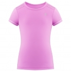 Poivre Blanc Girls Tennis T-Shirt in Sakura Pink and White