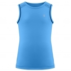 Poivre Blanc Girls Tennis Tank Top in Riviera Blue and White