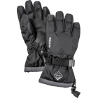 Hestra Czone Gauntlet Jr Ski Glove in Black and Grey