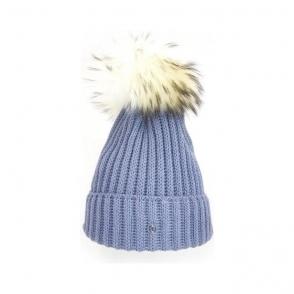 Bogner Leonie Womens Designer Ski Hat in Light Grey