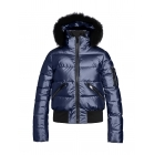 Goldbergh Diva Fur Womens Ski Jacket in Dark Navy