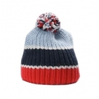 Bogner Arina Womens Hat in Red and Navy