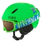 Giro Launch Jr Combo Kids Ski Helmet and Goggles in Bright Green