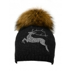 Steffner Bella Womens Ski Hat in Black