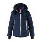 Reima Waken Girls Jacket in Navy