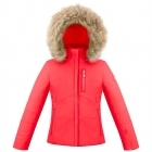 Poivre Blanc Ada Girls Ski Jacket in Scarlet Red