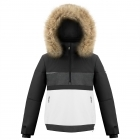 Poivre Blanc Alice Smock Girls Ski Jacket in Black and White