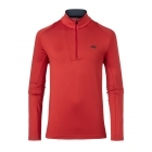 Kjus Speed Reader Mens 1/2 Zip Midlayer in Scarlet