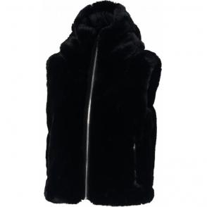 Fusalp Peggy Faux Fur Womens Gilet in Black