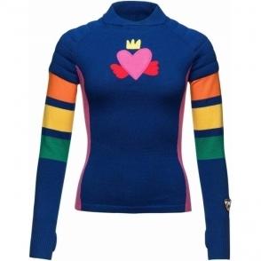 Rossignol JCC Yurock Pull Merino Knitted Womens Top in Deep Blue