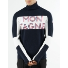 Fusalp Montagne Roll Neck Midlayer in Navy and White