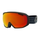 Bolle Tsar Ski Google in Matte Black Patch With Phantom Fire Red