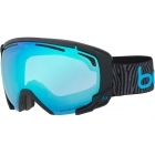 Bolle Supreme OTG Goggle in Matte Black and Neon Blue With Phantom Vermillion Blue Lens