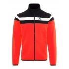 J Lindeberg Moffit Mid Jacket Tech Jersey M Midlayer in Racing Red