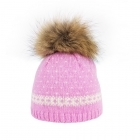Steffner Flims Pelz Girls Ski Hat in Pink