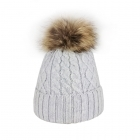 Steffner Mia Womens Ski Hat in Light Grey