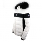 Fusalp Carella Fur Womens Ski Jacket in White and Black