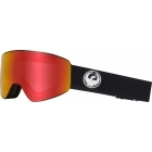 Dragon PXV Black Ski Goggle with LumaLens Red Ion and LL Rose