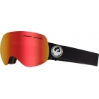 Dragon X1s Black Ski Goggle with LumaLens Red Ion and LL Rose