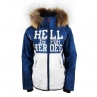Hell Is For Heroes Icona Womens Ski Jacket in Blue And White