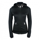 Poivre Blanc Andrea Womens Hooded Fleece Jacket in Black