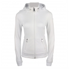 Poivre Blanc Andrea Womens Hooded Fleece Jacket in White