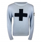 M.Miller Suisse Cashmere Top in Powder and Navy