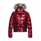 Aura Womens Ski Jacket in Lava - Saga Fur Trim