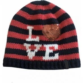 Barts I Love Beanie Kids Ski Hat in Navy
