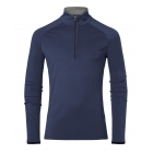 Feel Half Zip Mens Baselayer in Atlanta Blue