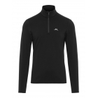 Kimball 1/2 Zip Mens Ski Midlayer Top in Black