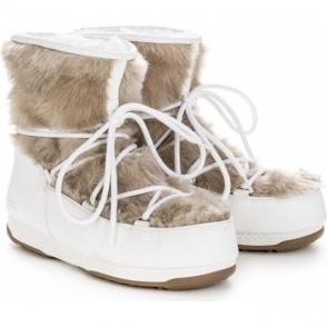 Monaco Low Fur Winter Boot in White