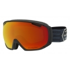 Tsar Ski Goggle in Matte Black Patch with Phantom Fire Red