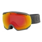 Northstar Ski Goggle in Matte Grey Squares with Phantom Fire Red