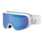 Scarlett Ski Goggle in Matte White & Silver Corp with Phantom+ Lens