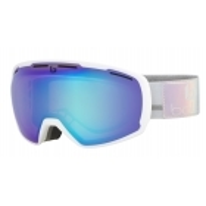 Laika Ski Goggle in Matte White Polychome with Aurora Lens