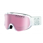 Scarlett Ski Goggle in Shiny White Night with Vermillon Gun Lens