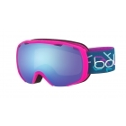 Royal Kids Ski Goggle in Matte Pink and Blue with Aurora Lens