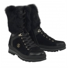 St Anton Womens Snow Boot in Black and Gold