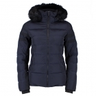 Castellane Faux Fur Jacket in Dark Blue and Black