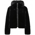Mongie Faux Fur Jacket in Black