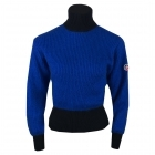 Muzelle Womens Roll Neck Top in Black and Navy