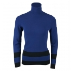 Ubac Womens Roll Neck Midlayer in Blue Depth