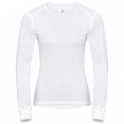 Odlo Active Warm L/S Crewneck Womens Baselayer Top in White