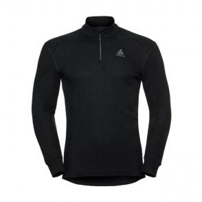 Odlo Active Warm L/S 1/2 Zip Mens Baselayer Top in Black