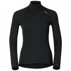 Odlo Active Warm Shirt L/S Zip Neck Womens Baselayer in Black