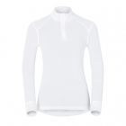 Odlo Active Warm Shirt L/S Zip Neck Womens Baselayer in White