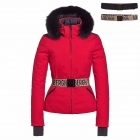 Hida Fur Womens Jacket in Lava - Saga Fur Trim
